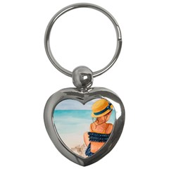 A Day At The Beach Key Chain (Heart)
