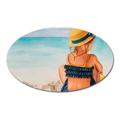 A Day At The Beach Magnet (Oval)