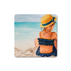 A Day At The Beach Magnet (square)
