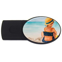 A Day At The Beach 1GB USB Flash Drive (Oval)