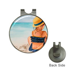 A Day At The Beach Hat Clip with Golf Ball Marker