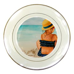 A Day At The Beach Porcelain Display Plate
