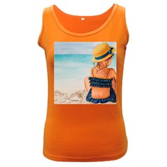 A Day At The Beach Women s Tank Top (Dark Colored)