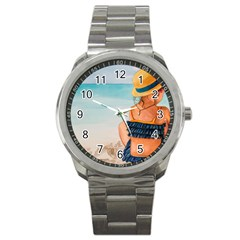A Day At The Beach Sport Metal Watch