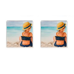A Day At The Beach Cufflinks (Square)