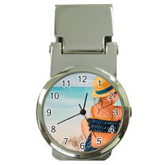 A Day At The Beach Money Clip With Watch