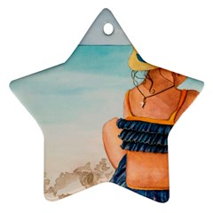 A Day At The Beach Star Ornament (Two Sides)