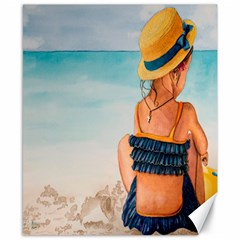 A Day At The Beach Canvas 8  x 10  (Unframed)