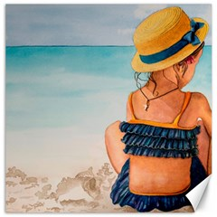 A Day At The Beach Canvas 12  x 12  (Unframed)