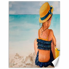 A Day At The Beach Canvas 12  x 16  (Unframed)