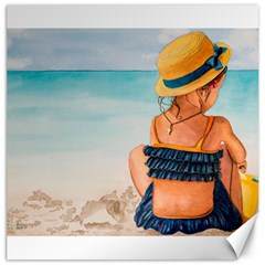 A Day At The Beach Canvas 20  X 20  (unframed)