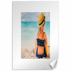 A Day At The Beach Canvas 24  x 36  (Unframed)