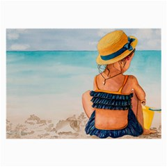 A Day At The Beach Glasses Cloth (Large, Two Sided)