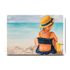 A Day At The Beach Small Door Mat