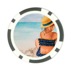 A Day At The Beach Poker Chip