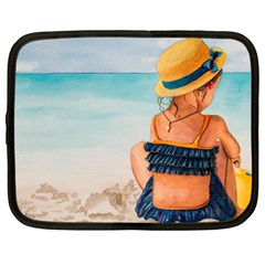 A Day At The Beach Netbook Sleeve (large)