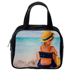 A Day At The Beach Classic Handbag (one Side)
