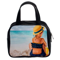 A Day At The Beach Classic Handbag (two Sides)