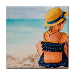 A Day At The Beach Face Towel