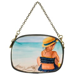 A Day At The Beach Chain Purse (One Side)