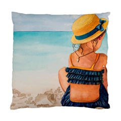 A Day At The Beach Cushion Case (Two Sided)