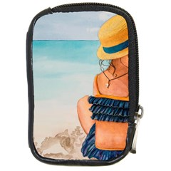 A Day At The Beach Compact Camera Leather Case