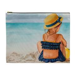 A Day At The Beach Cosmetic Bag (XL)