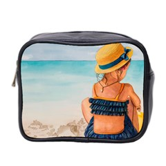 A Day At The Beach Mini Travel Toiletry Bag (Two Sides)