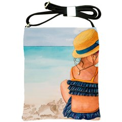 A Day At The Beach Shoulder Sling Bag