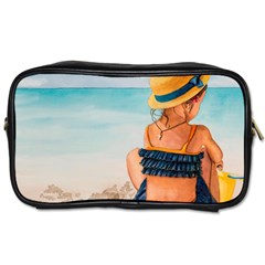 A Day At The Beach Travel Toiletry Bag (one Side)