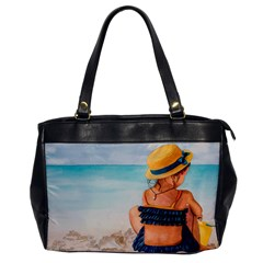 A Day At The Beach Oversize Office Handbag (One Side)