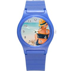A Day At The Beach Plastic Sport Watch (small)