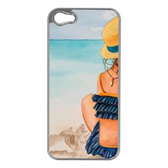 A Day At The Beach Apple Iphone 5 Case (silver)