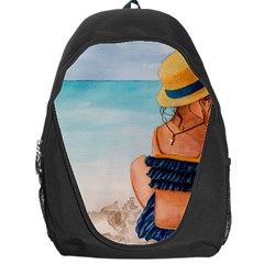 A Day At The Beach Backpack Bag