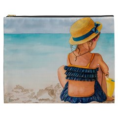 A Day At The Beach Cosmetic Bag (xxxl)