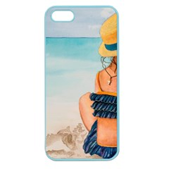 A Day At The Beach Apple Seamless iPhone 5 Case (Color)