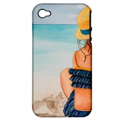 A Day At The Beach Apple Iphone 4/4s Hardshell Case (pc+silicone)