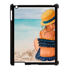 A Day At The Beach Apple iPad 3/4 Case (Black)