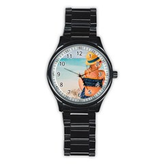 A Day At The Beach Sport Metal Watch (Black)