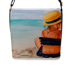 A Day At The Beach Flap Closure Messenger Bag (Large)