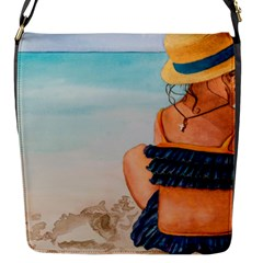 A Day At The Beach Flap Closure Messenger Bag (Small)