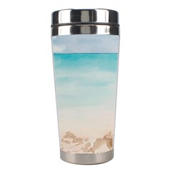 A Day At The Beach Stainless Steel Travel Tumbler