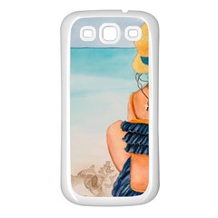A Day At The Beach Samsung Galaxy S3 Back Case (White)