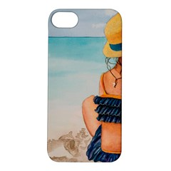 A Day At The Beach Apple Iphone 5s Hardshell Case