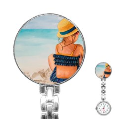 A Day At The Beach Stainless Steel Nurses Watch