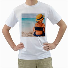 A Day At The Beach Men s T Shirt (white)
