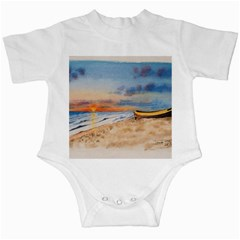Sunset Beach Watercolor Infant Bodysuit