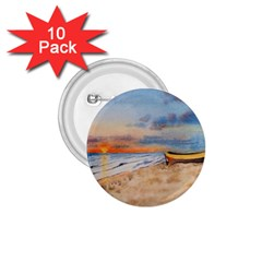 Sunset Beach Watercolor 1.75  Button (10 pack)