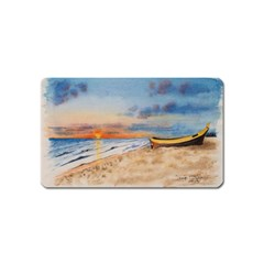 Sunset Beach Watercolor Magnet (name Card)