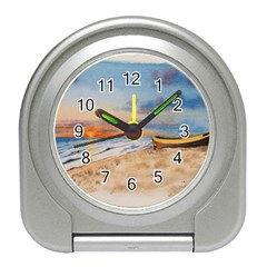 Sunset Beach Watercolor Desk Alarm Clock